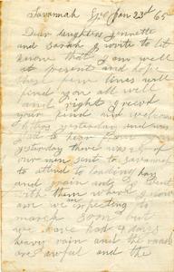 Jesse Taft Letter: January 23, 1865