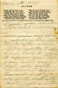 Jesse Taft Letter: March 30, 1865
