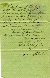 Alvah Marsh Letter: June 15, 1862