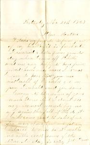 Alvah Marsh Letter: November 21 1862