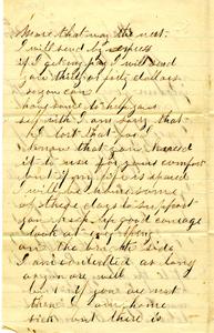 Alvah Marsh Letter: March 20 1863