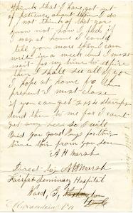 Alvah Marsh Letter: December 6 1863