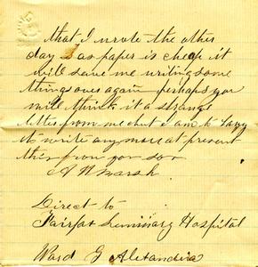 Alvah Marsh Letter: December 18 1863