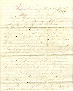Alvah Marsh Letter: January 1, 1864