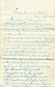 Alvah Marsh Letter: February 10 1864