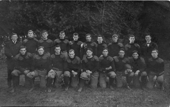 M.A.C. football team, circa 1900-1909