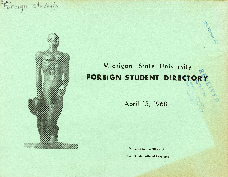 1968 International Student Directory