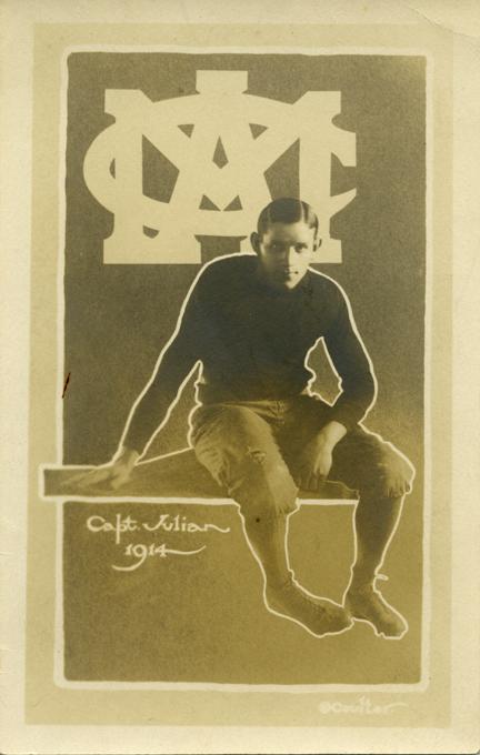 Captain Julian, M.A.C. football team, 1914