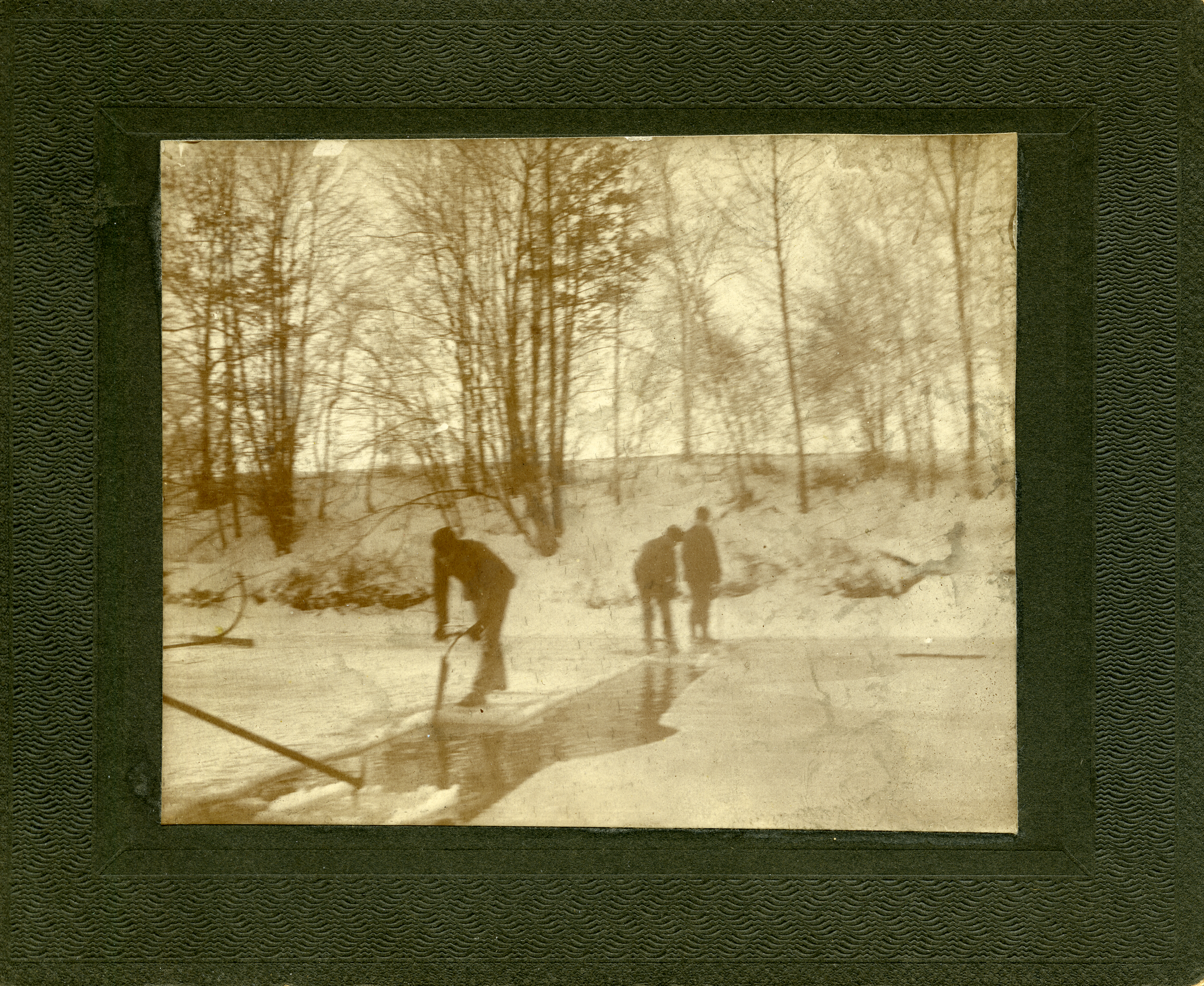 Harvesting Ice on the Red Cedar River, 1900