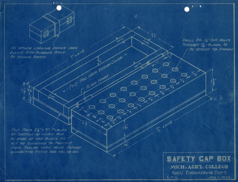 Safety Cap Box Blueprint