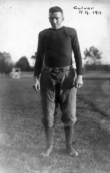 Culver, M.A.C. football player, 1911