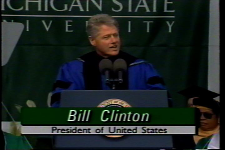 MSU Convocation with President Bill Clinton, 1995