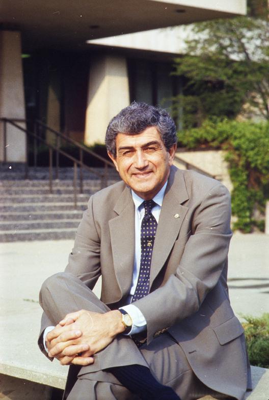 A portrait of MSU President John DiBiaggio, 1987