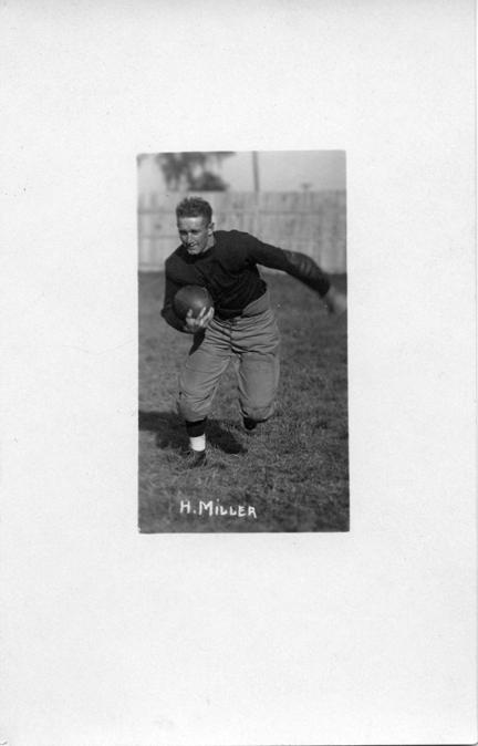 H. Miller, M.A.C. football player