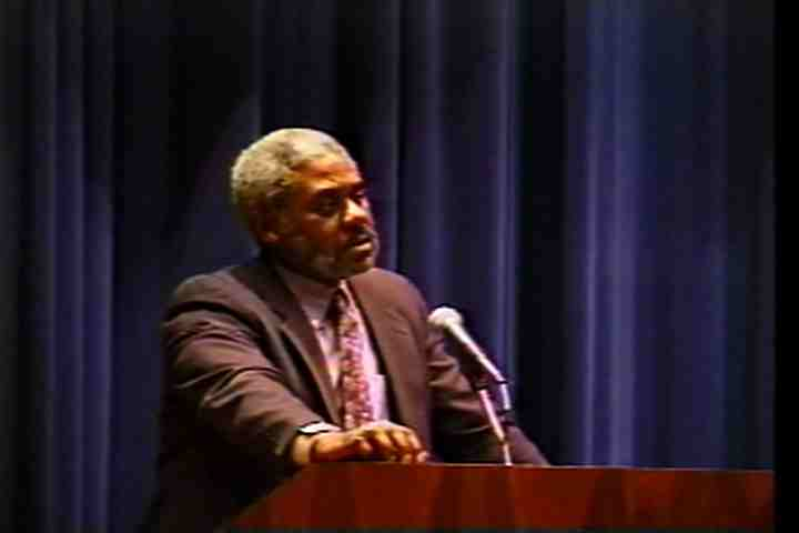 Martin Luther King Commemoration Celebration: Visiting Speaker Charles Johnson, 2000