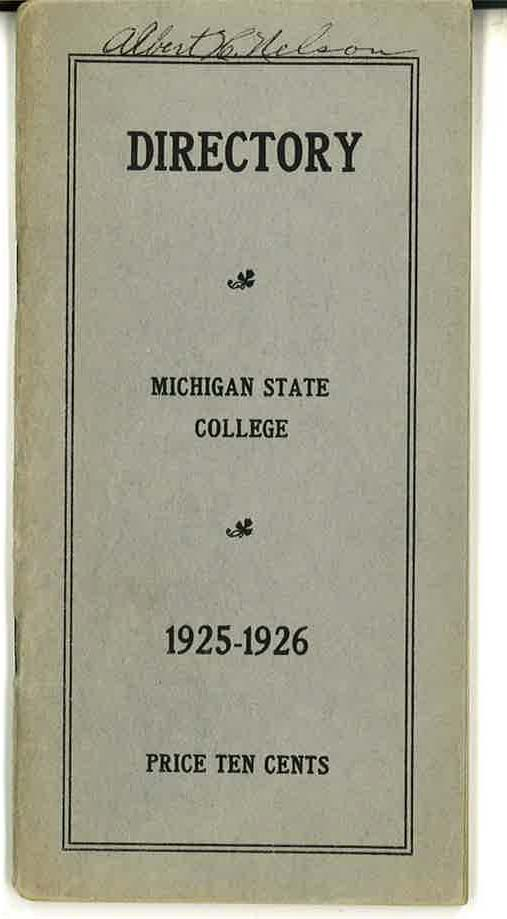 1925-1926 Faculty and Student Directory