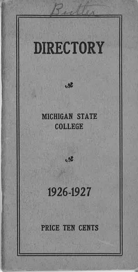 1926-1927 Faculty and Student Directory
