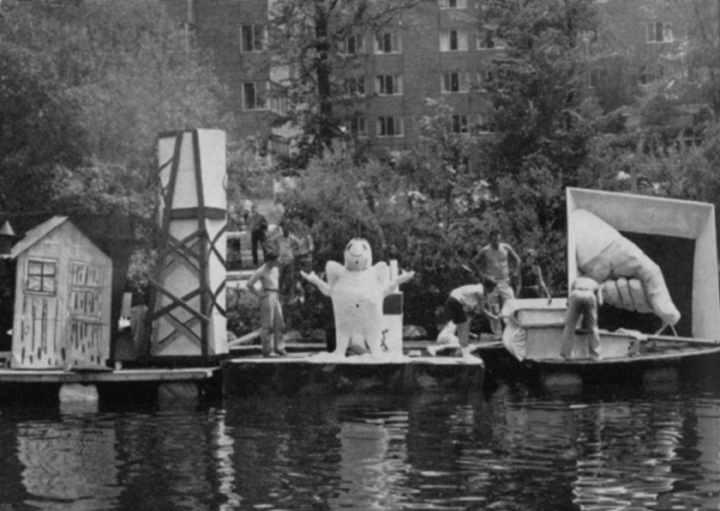 Water Carnival floats, 1958