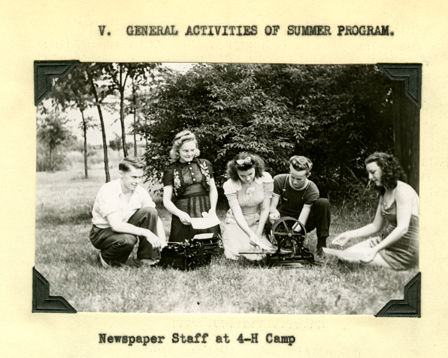 Newspaper Staff at 4-H Camp
