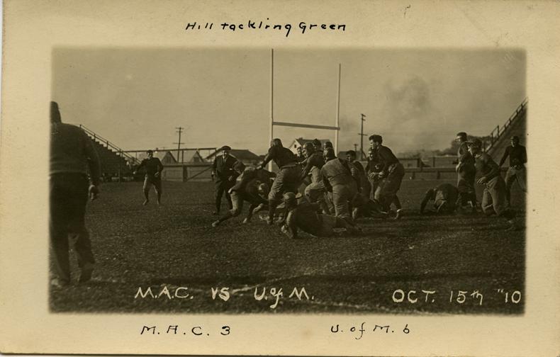 M.A.C. vs University of Michigan football game, 1910