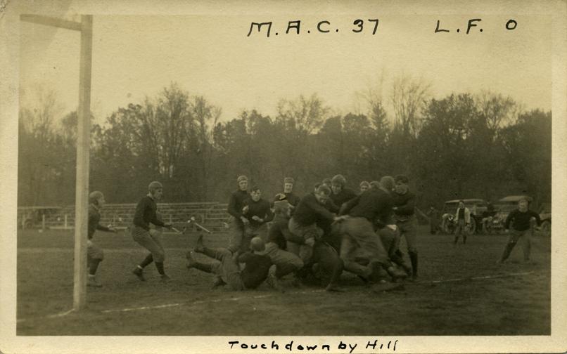 M.A.C. vs. L.F. football game, ca. 1910