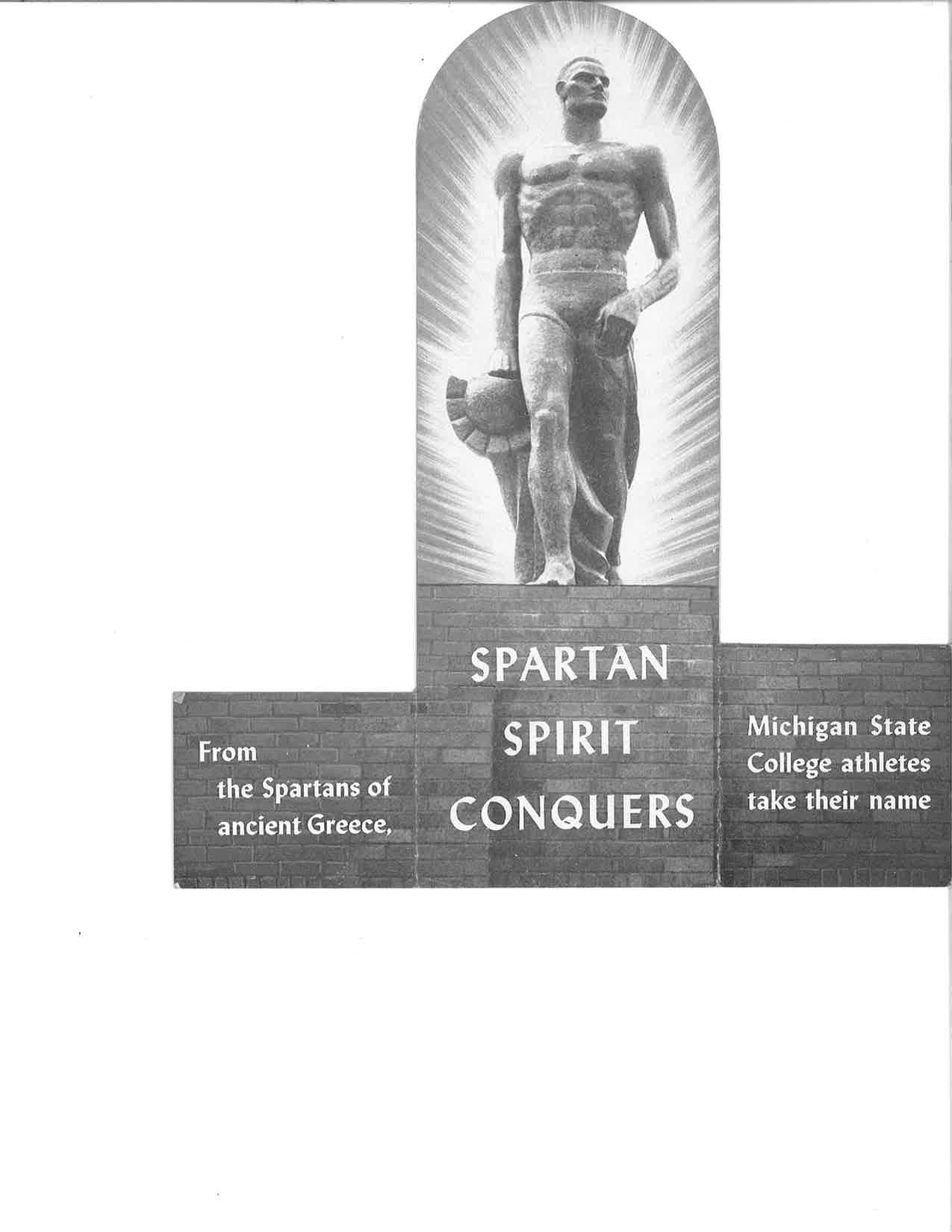Spartan Statue Unveiling program, 1945