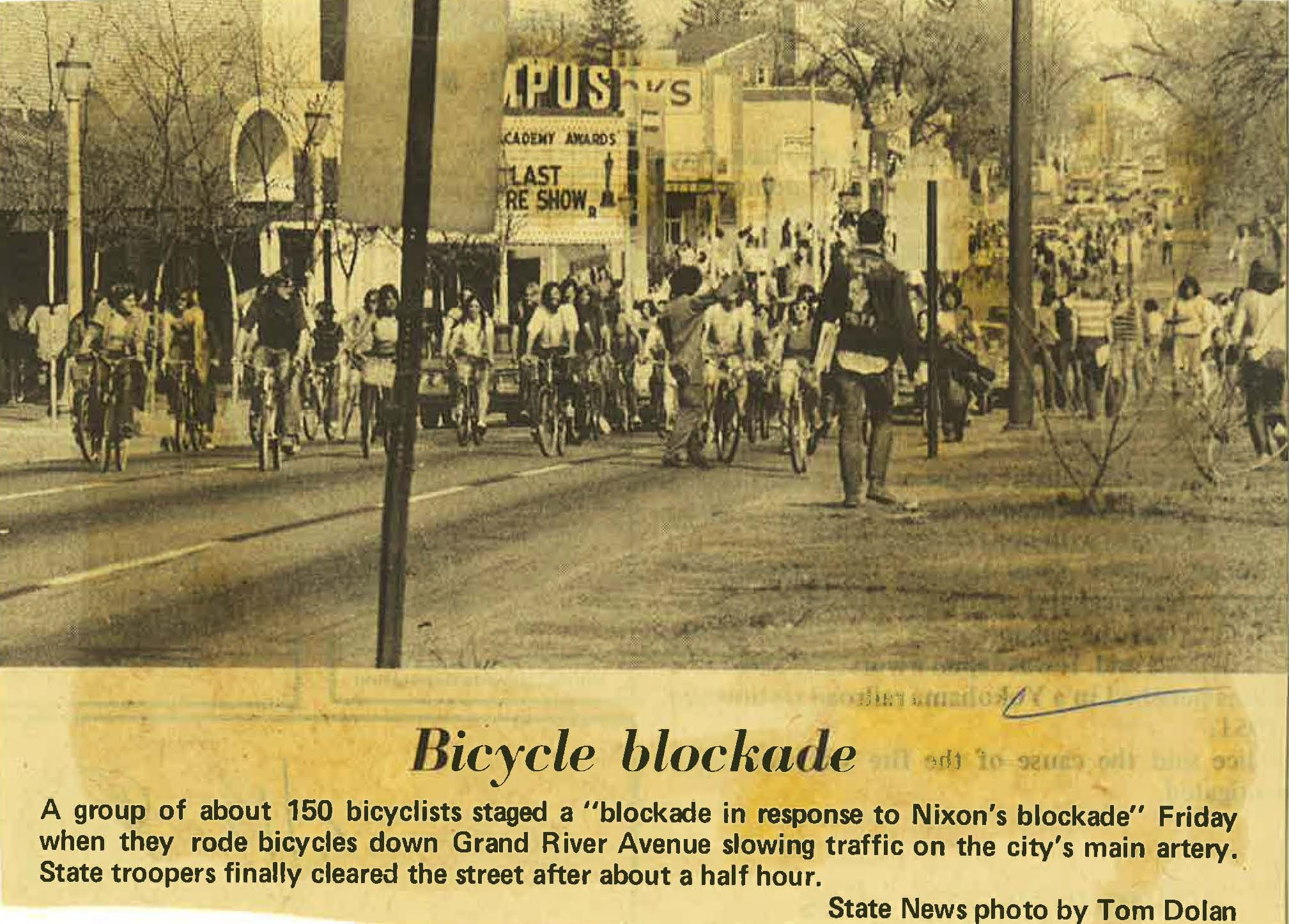 Bicycle Blockade on Grand River Avenue