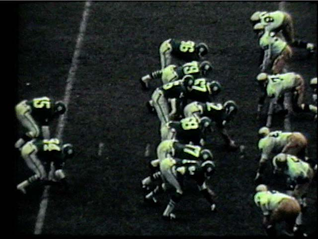 Spartan offense getting ready for a play, 1966