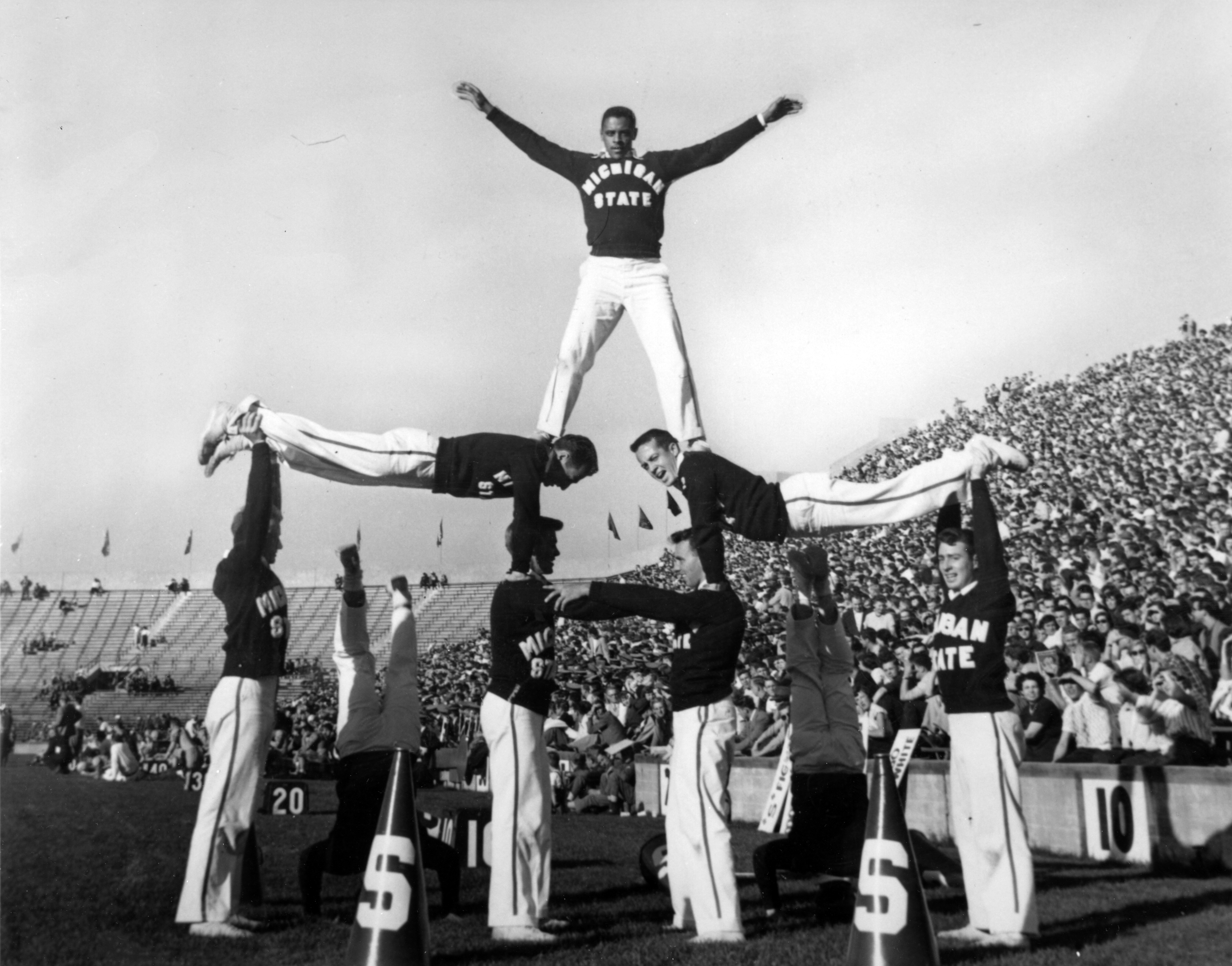 Michigan State College Cheerleaders, circa 1950
