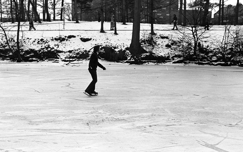 Ice Skating on the Red Cedar River
