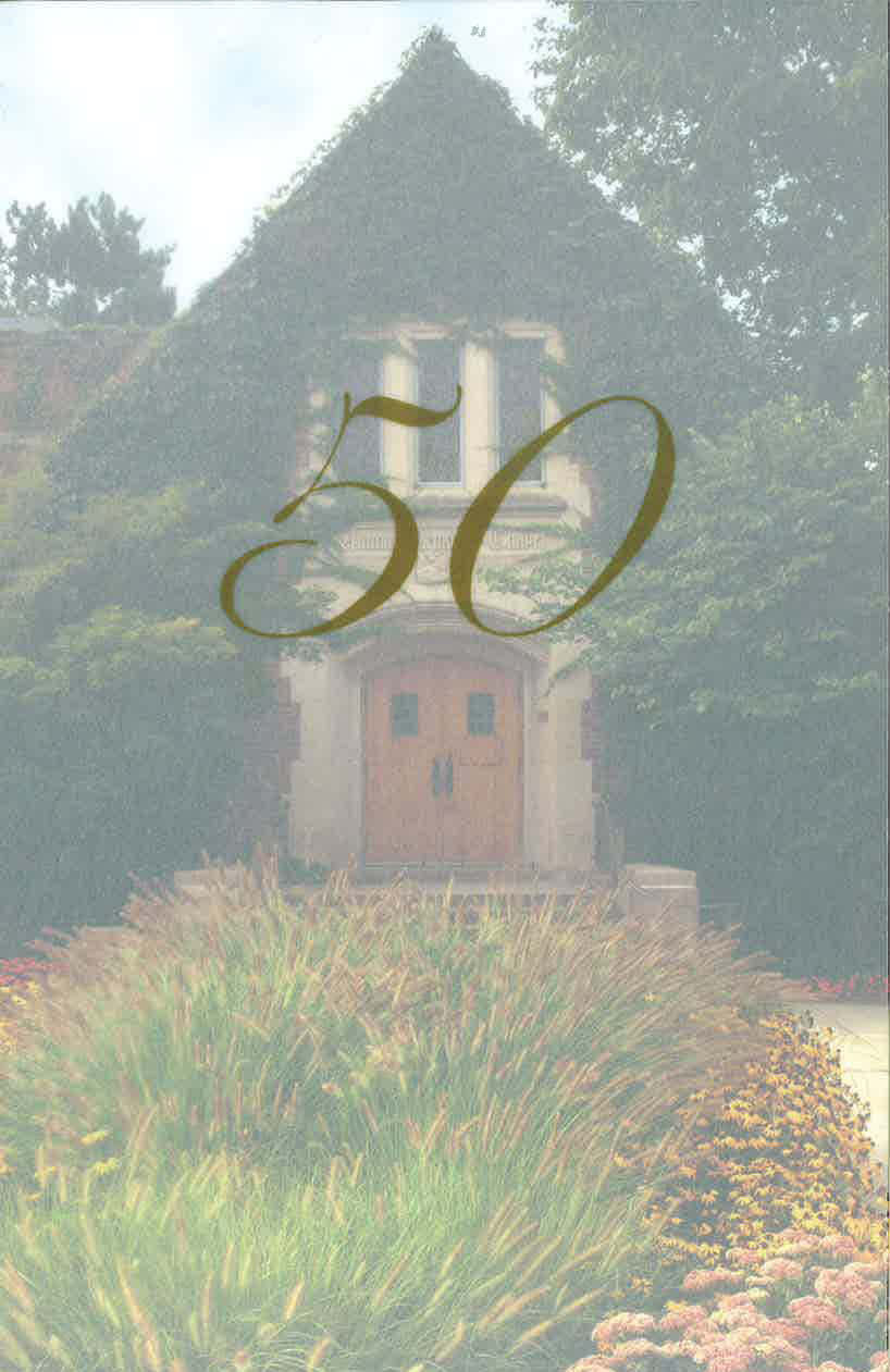 50th Anniversary Program for the Alumni Memorial Chapel; September 21, 2002