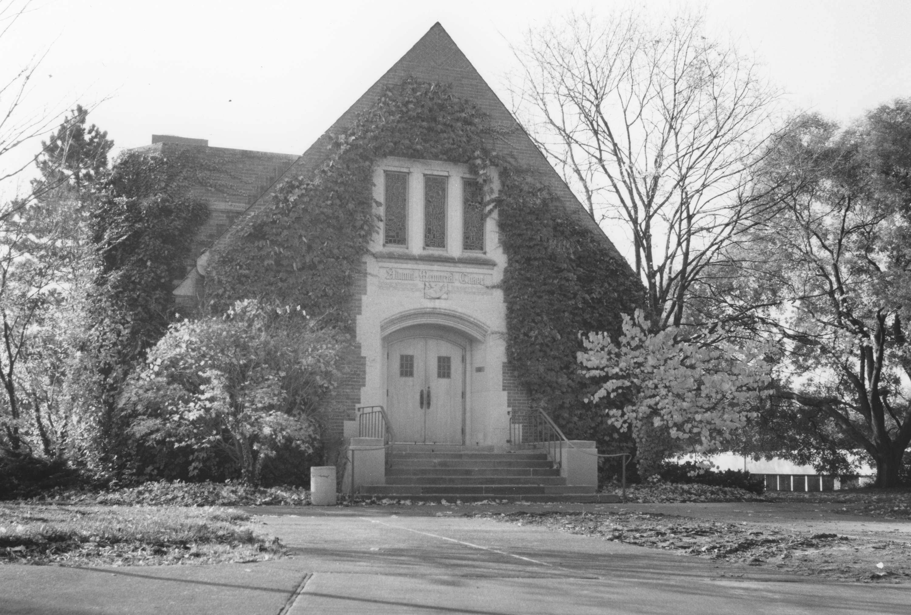 Outside of the Alumni Memorial Chapel, undated