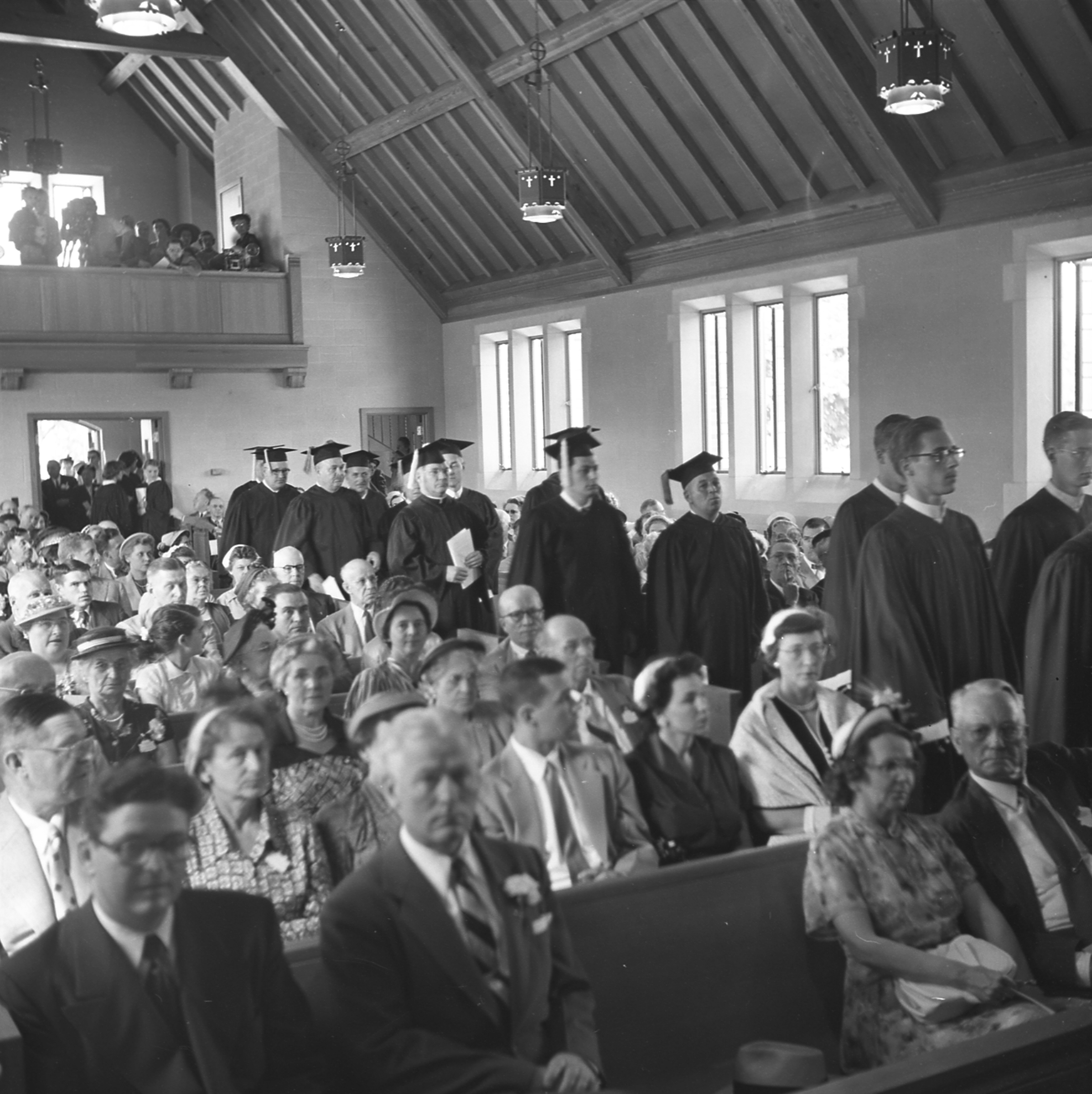 Procession during the dedication of the Alumni Memorial Chapel; June 7, 1952