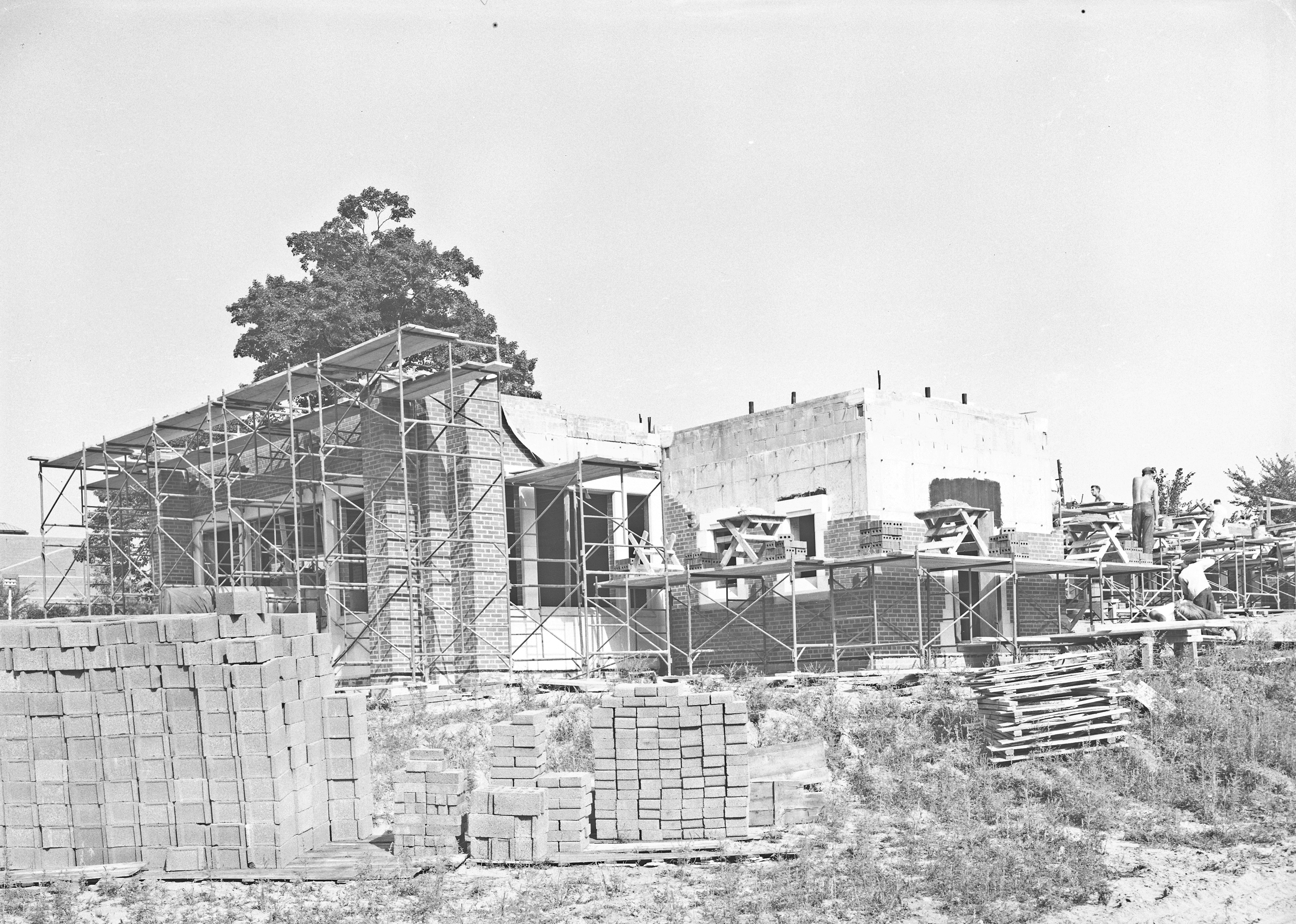 Construction of the Alumni Memorial Chapel; August 14, 1951