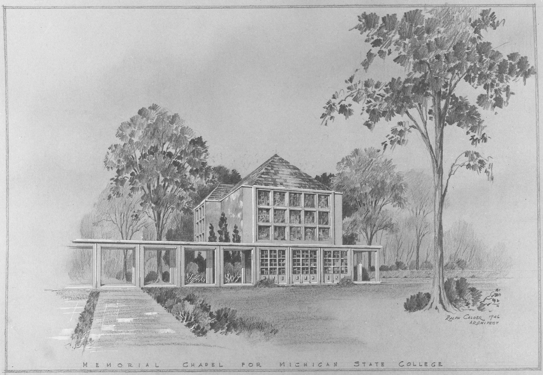 Original drawing for the Alumni Chapel; 1946
