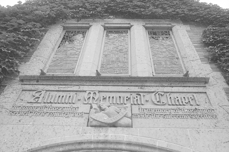 Entrance above the Alumni Chapel; September 29, 1981