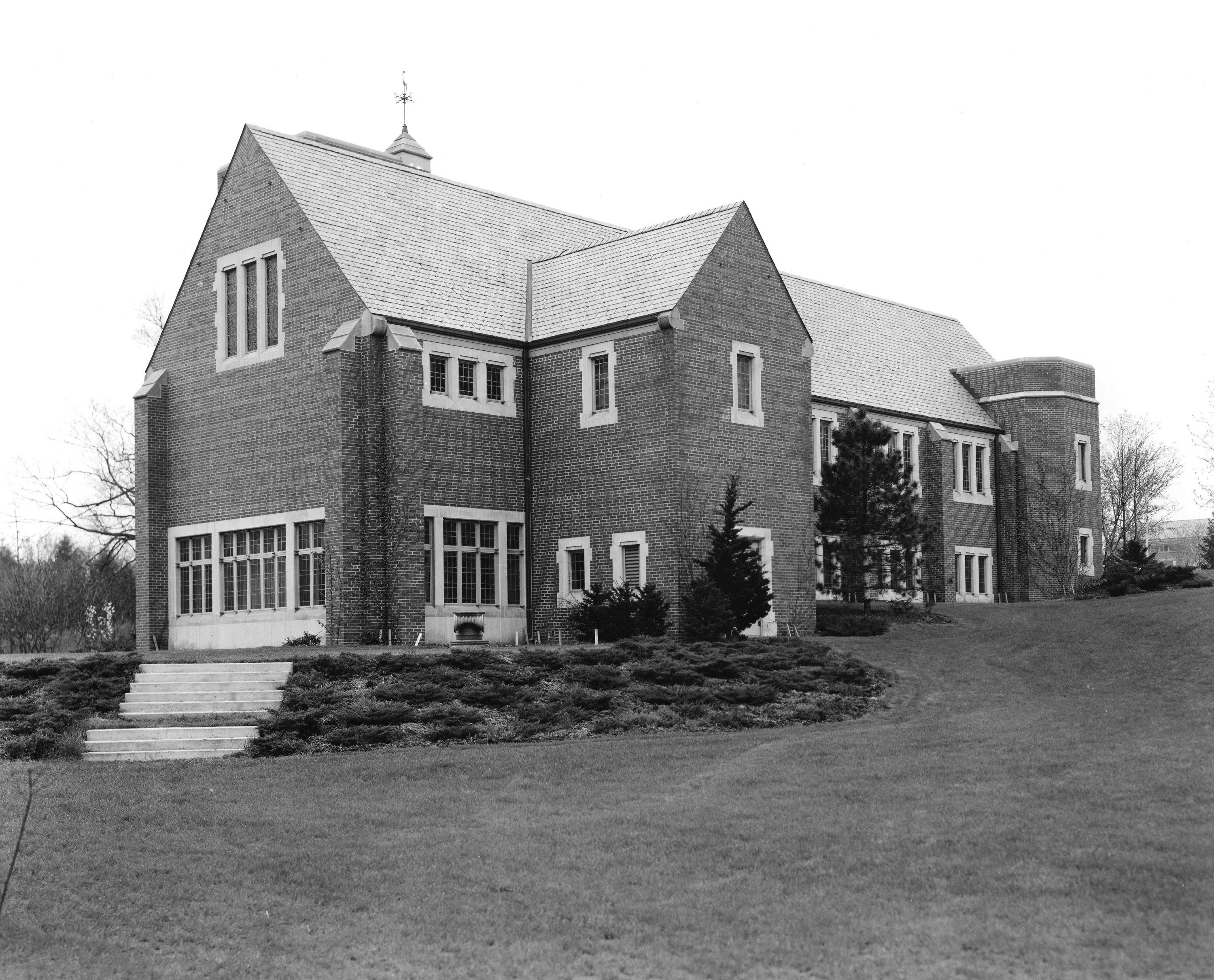 Back view of Alumni Chapel, undated