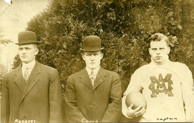 M.A.C. football, manager, coach, and captain, 1910