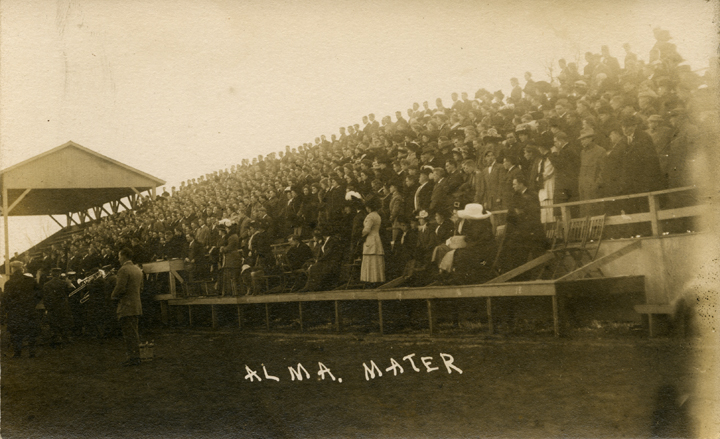 Fans at a M.A.C. football game