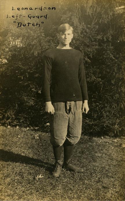 """Dutch"" Leonardson, M.A.C. football player"