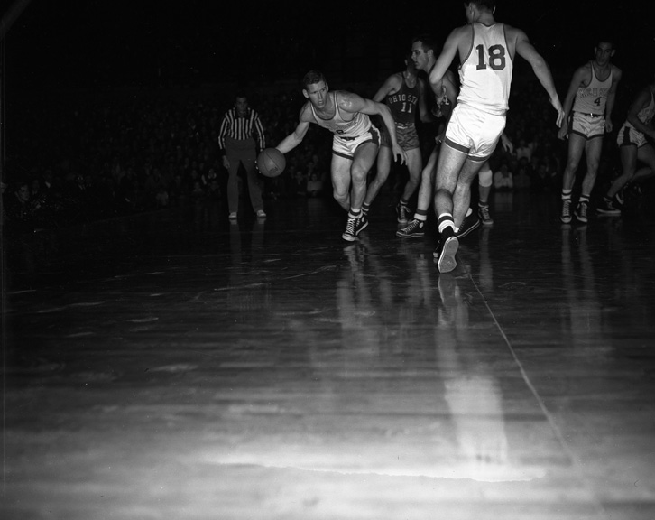 Action Shot during Ohio State - Michigan State College Basketball Game, February 13, 1952