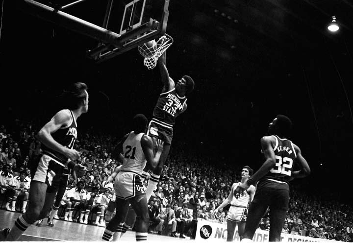 Magic Johnson Dunking the Ball, 1978