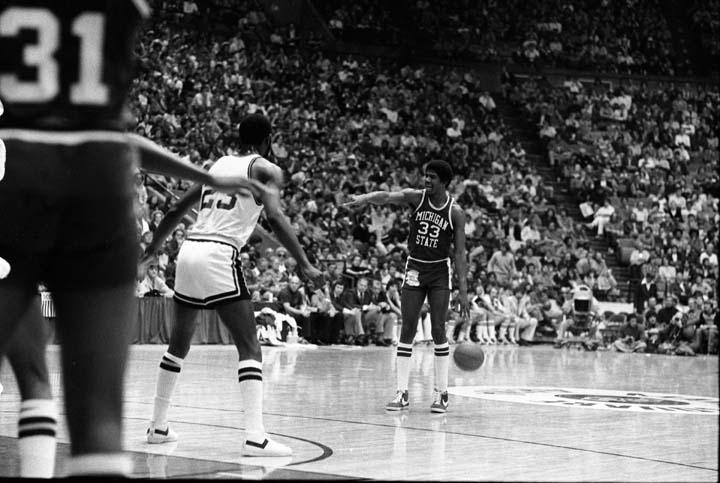 Magic Johnson Pointing, 1978