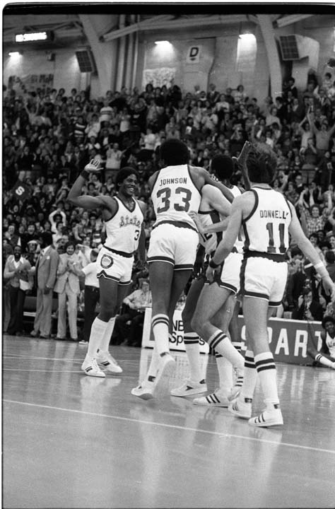 MSU Basketball Team Celebrating, 1979