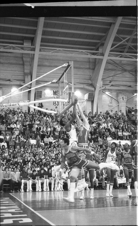 MSU vs Kansas Action Shot, 1979