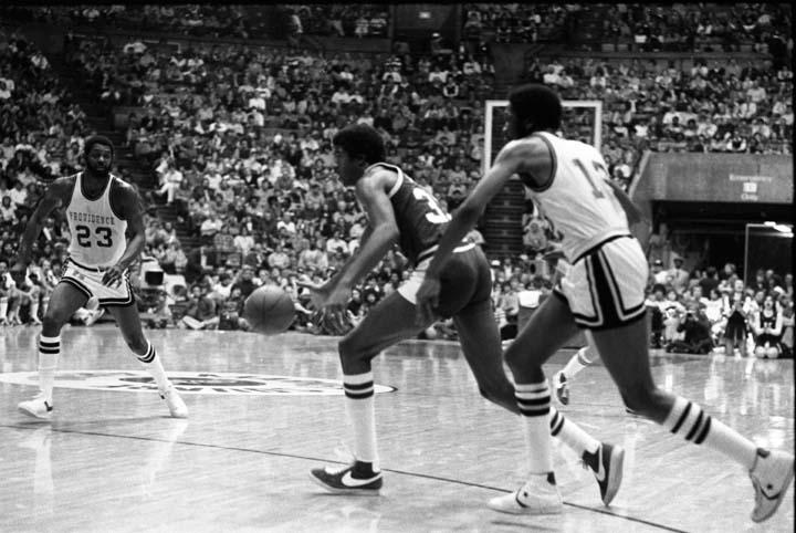 Action Shot from Regional Basketball Game vs Providence, 1978