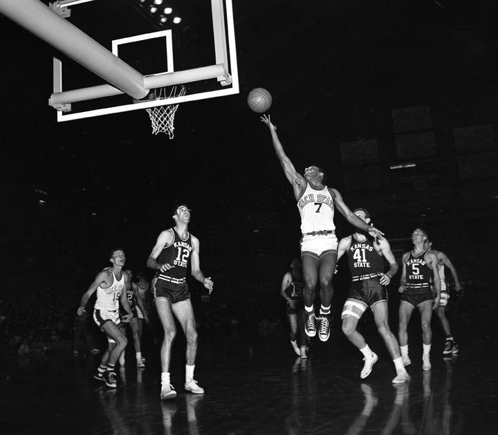 MSU vs Kansas State Basketball Game with Rickey Ayala, December 23, 1952