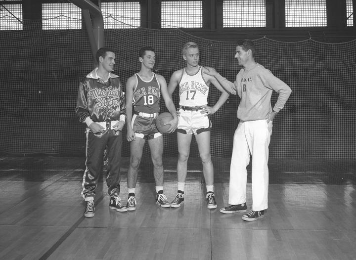 1951 Basketball Team Modeling Uniforms