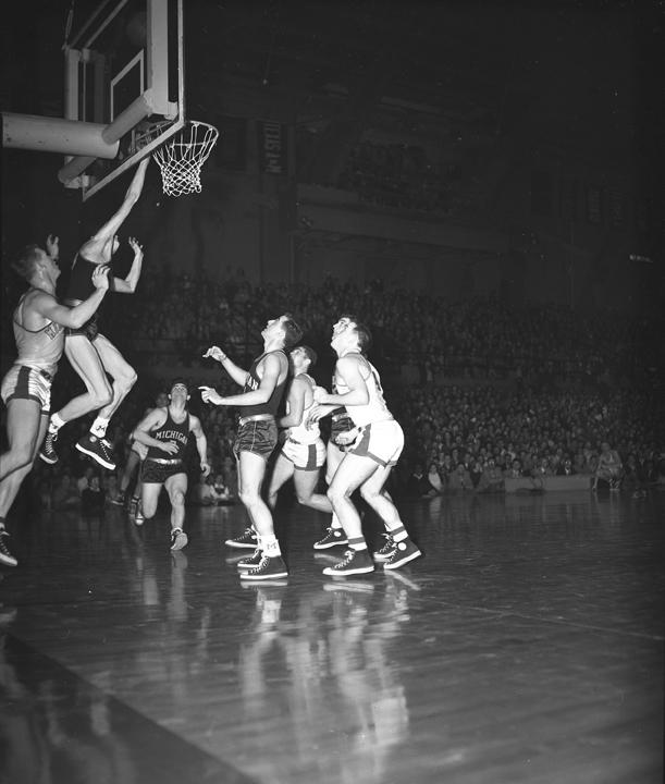 MSC vs. Michigan Basketball Game, March 4, 1952