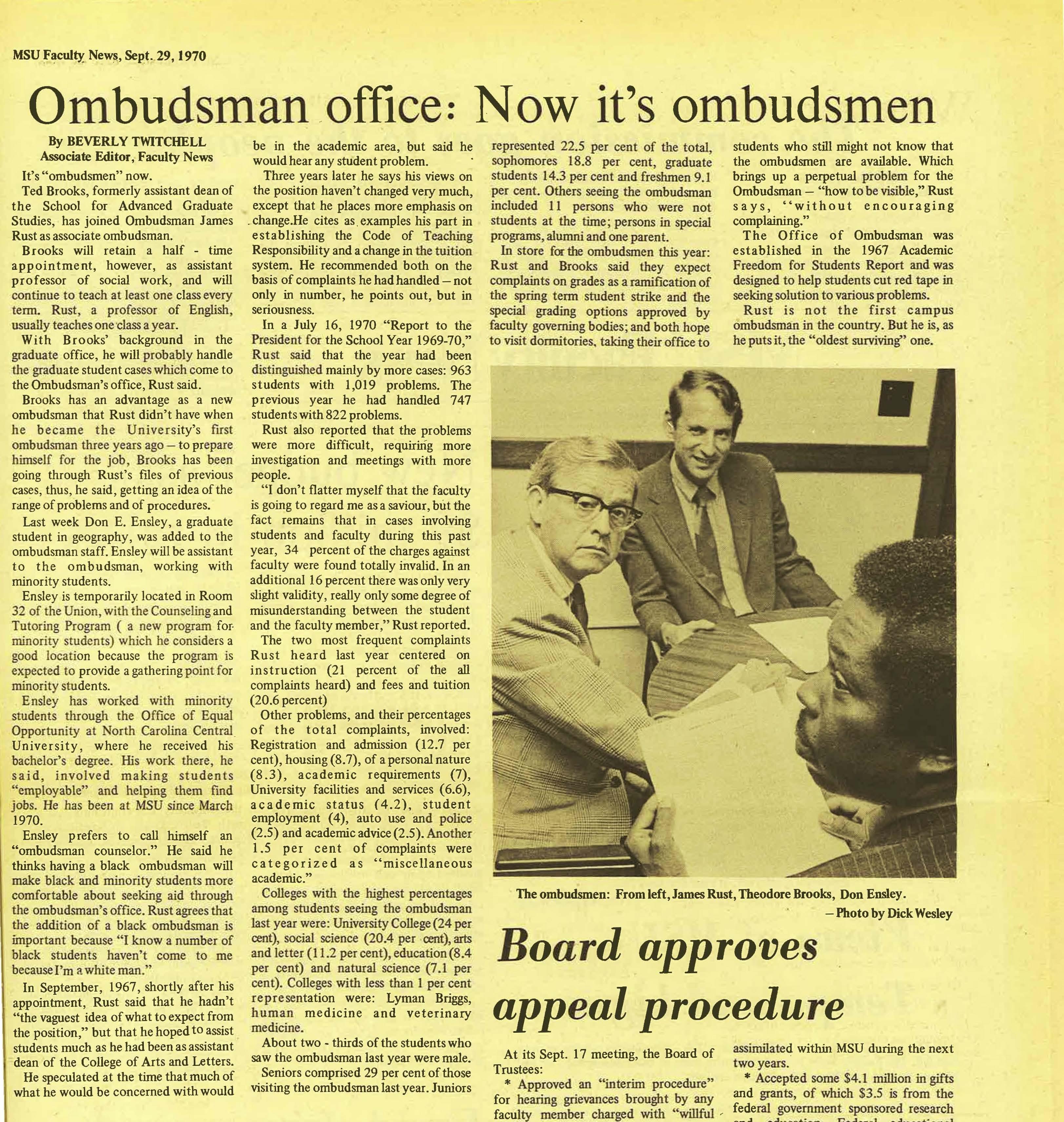 """Ombudsman office: Now it's ombudsmen"""